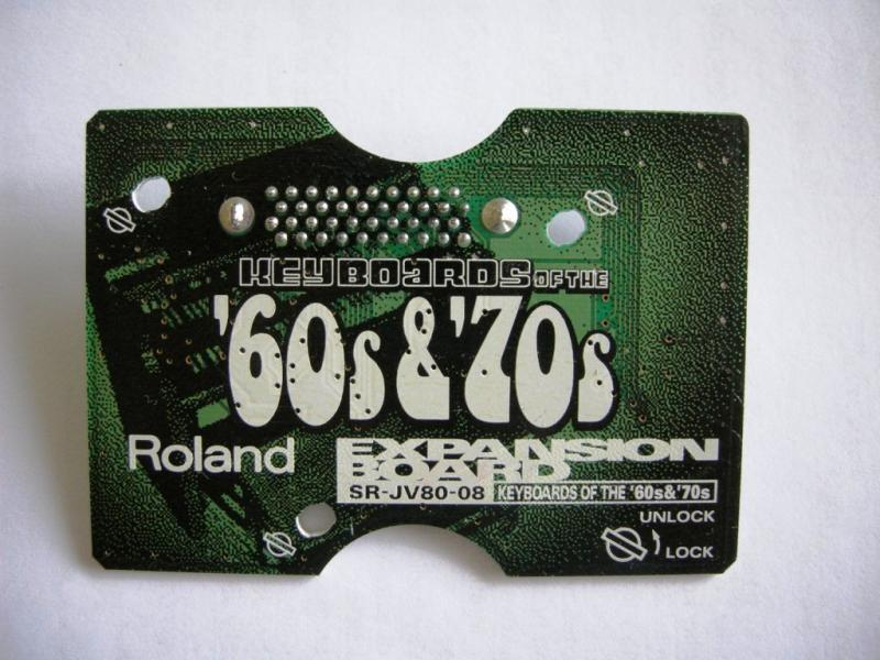 "Roland expansion board ""Keyboards of the ´60s & ´70s"""