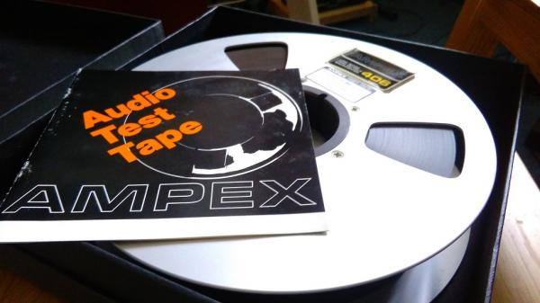 "AMPEX 2"".  Audio Test Tape"