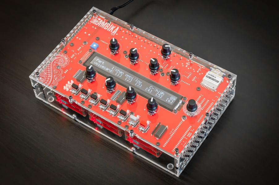 Ambika - 6 voice hybrid synth (6x SMR-4 voicecards)