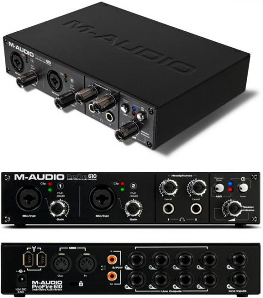 M-Audio ProFire 610 High-Definition 6-in/10-out FireWire Audio