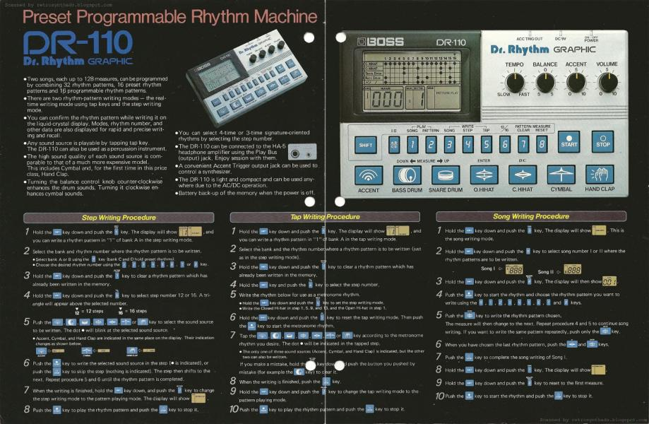 Koupím BOSS DR-110 Dr. Rhythm Graphic
