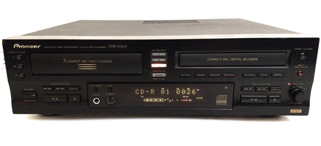 Pioneer PDR-W839 mit FB * 4 Disc Multi Play Recorder / Compact Disc Changer