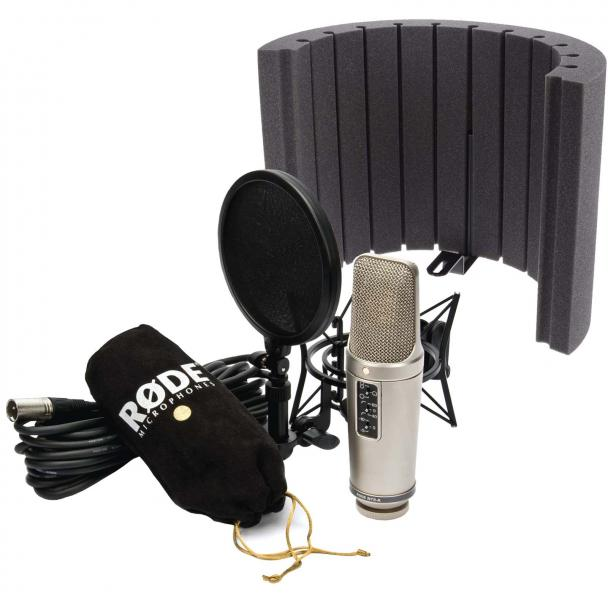 RODE NT2A Studio Solution Kit + Vicoustic Flexi Screen Lite Acoustic + univerální stolní mikrofonní stativ