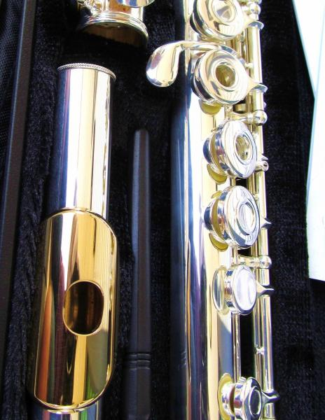 NEW Gemeinhardt 3OSHB Silver Flute GOLD LIP Open Hole B-foot Offset G 30SHB