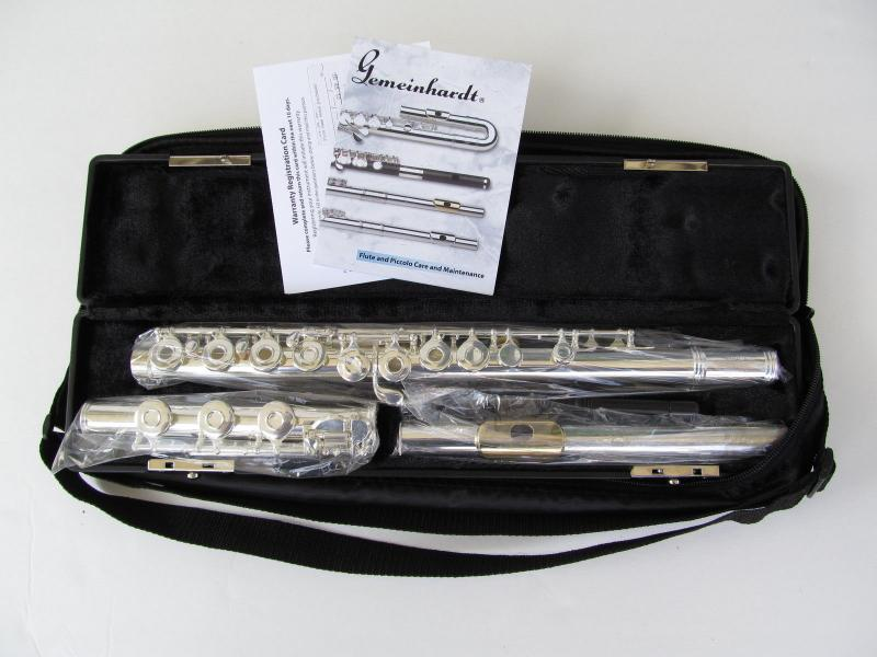 NEW Gemeinhardt 3O Silver-plated Flute, GOLD LIP, Open-Hole C-foot, offset G, 30