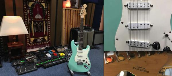 FENDER SQUIER AFFINITY STRATOCASTER + SEYMOUR DUNCAN EVERYTHING AX SET