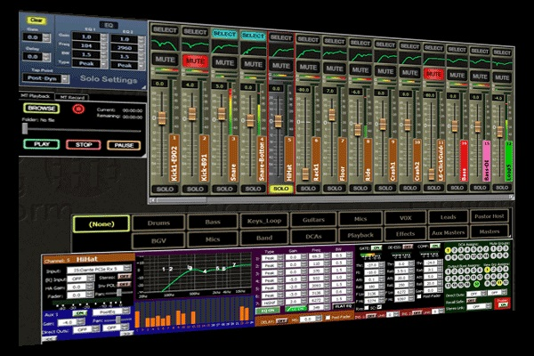 Software mixing console