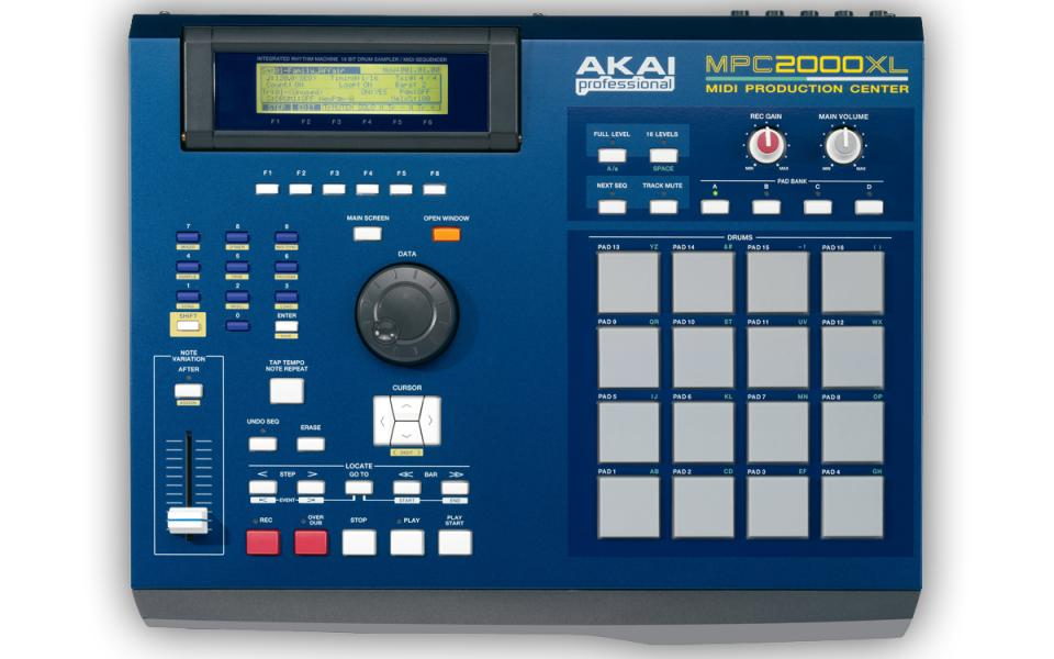 Akai MPC 2000 XL Blue (+ 8 out karta)