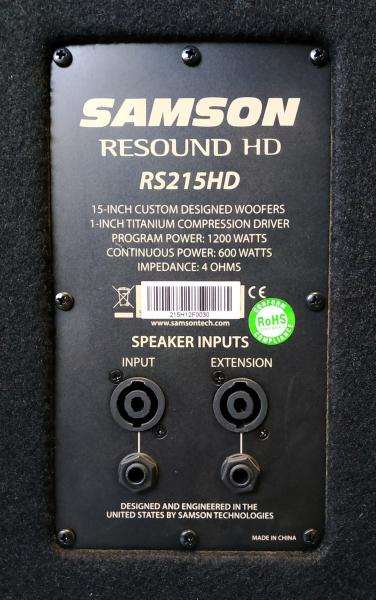 Samson Resound HD RS215HD (2ks)
