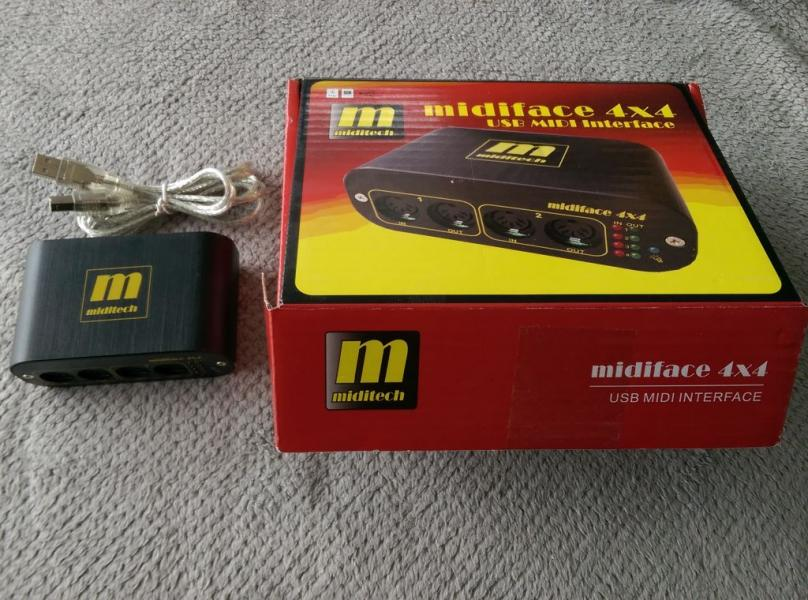 Miditech midiface 4x4 - univerzální MIDI interface/merger/splitter/thru
