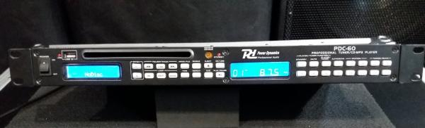 Power Dynamics PDC-60, tuner a přehrávač CD/MP3/USB