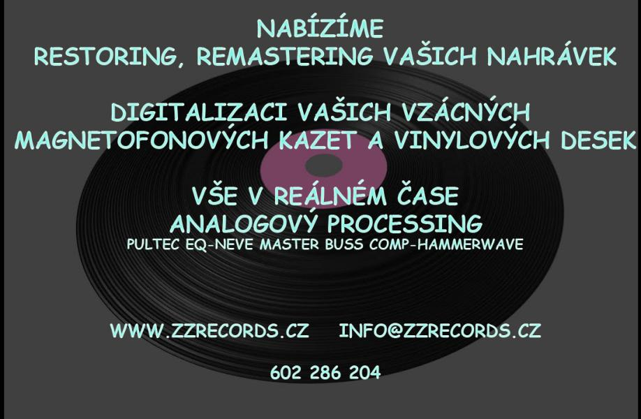 digitalizace - přepis vašich audio/video kazet a vinylů