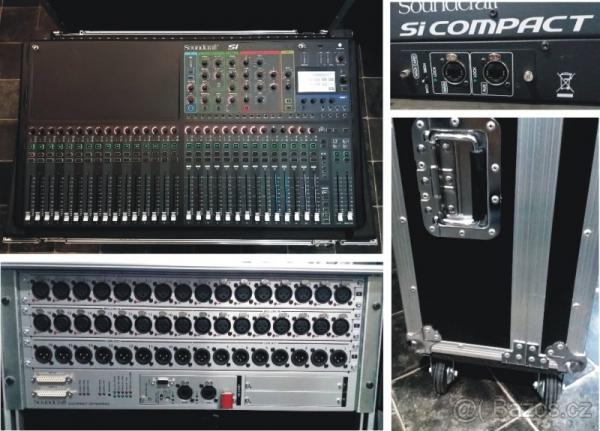 Soundcraft Si Compact 32+ case + Vi/Si Compact stagebox