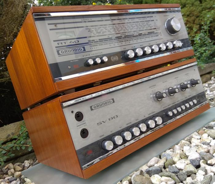 Zesilovač GRUNDIG SV-80 + tuner GRUNDIG RT-40 - Made in Germany - 1966