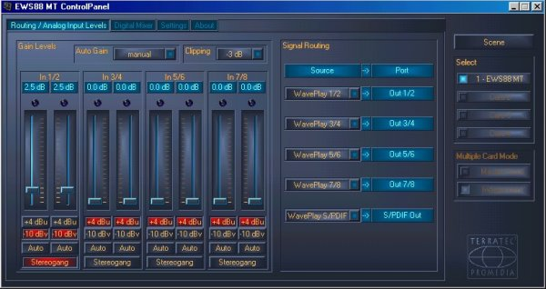 Terratec EWS88MT 24/96 - 8 IN + 8 OUT + Cubase